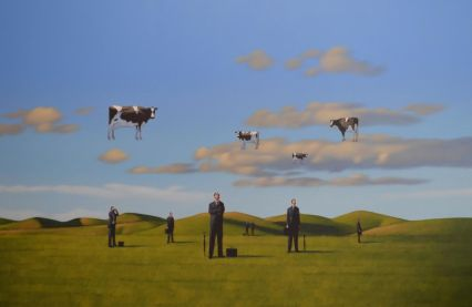 floating cows